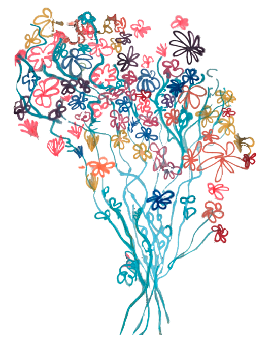 Kindness+Love Flower Bouquet Painting
